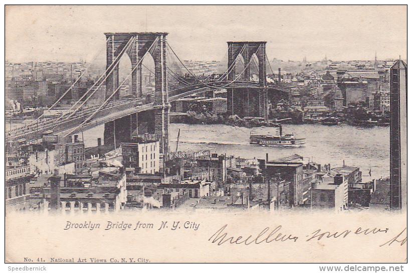 22027 Thomazi - Brooklyn Bridge From N Y City -N) 41 National Art Views- 1904 - NY - New York