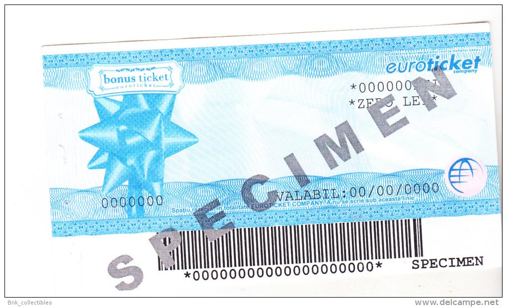 Romania Euroticket Bond -  Bonus Ticket - Specimen - Rumania