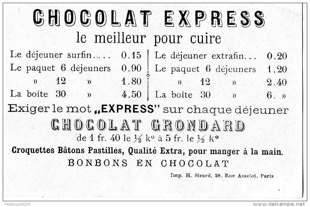 CHROMO  CHOCOLAT EXPRESS GRONDARD   Paris   Dragons   = = - Non Classificati
