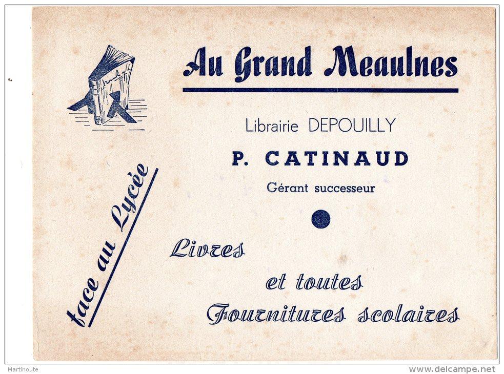 - BUVARD AU GRAND MEAULNES Librairie Depouilly, P. CATINAUD - 369 - Papeterie