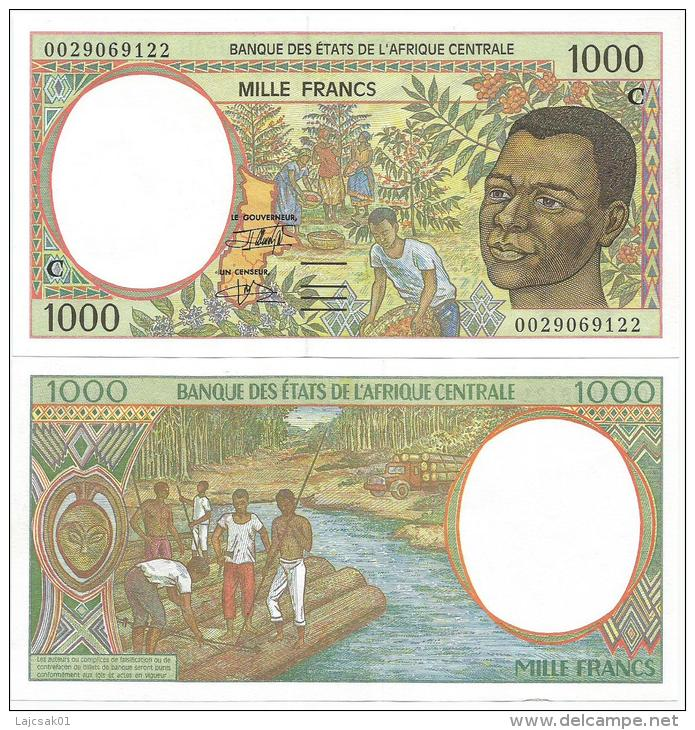 Congo  1000  Francs 2000. UNC  Central African Franc CFA Lettre C - Congo