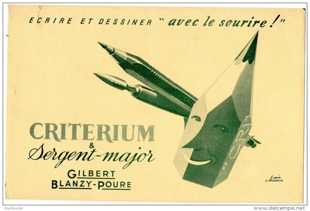 - BUVARD CRITERIUM Sergent-Major Gilbert Blanzy-Poure - 383 - Papeterie