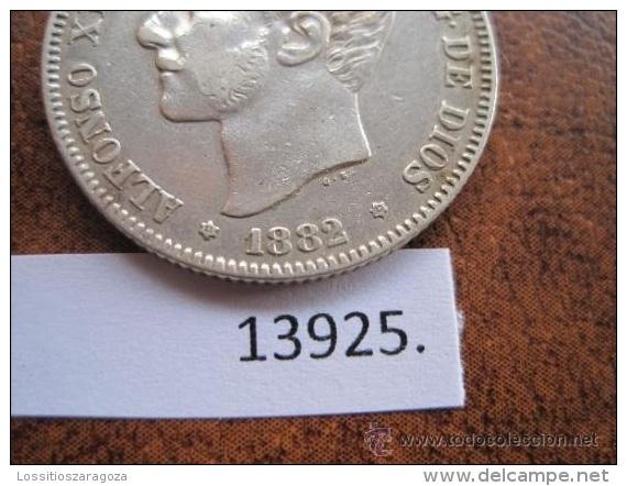 España , 2 Pesetas De Plata 1882 18 - 82 MSM , ALFONSO XII , 12 - [ 1] …-1931 : Reino