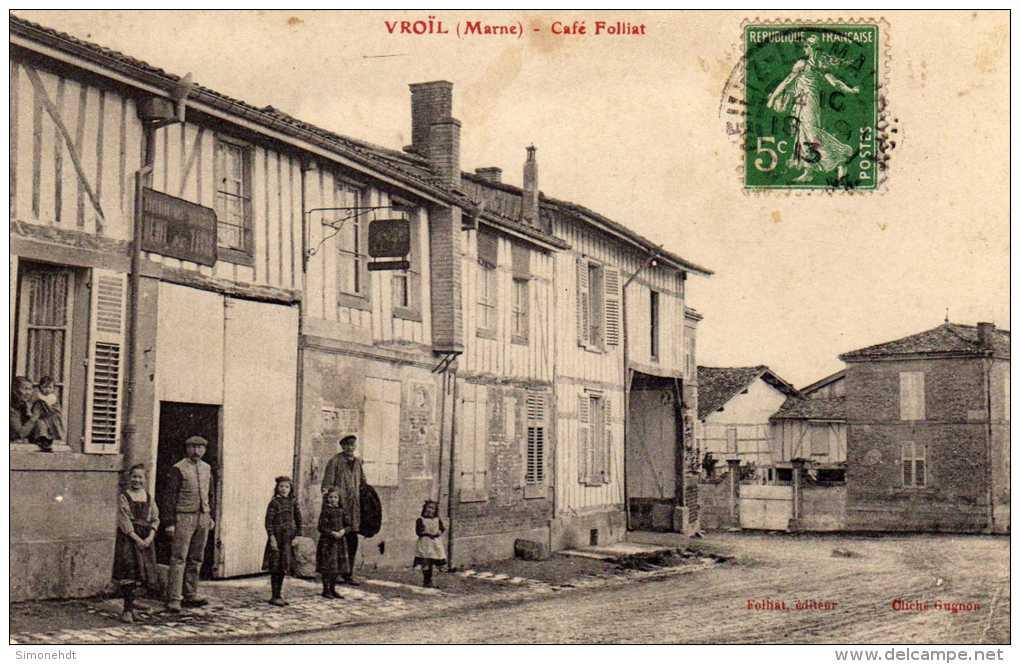 51 - VROIL - Café Foliat - Autres Communes