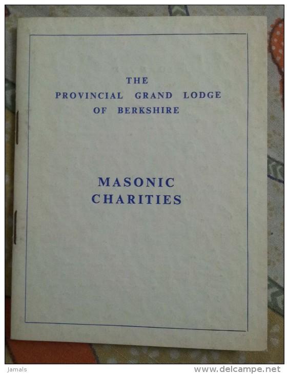 Freemasonry, Maconnerie, Masonic Charities, Handbook, Grand Lodge Of Berkshire - Livres, BD, Revues