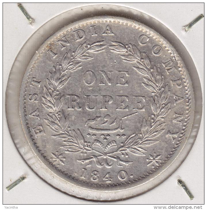 @Y@    BRITISH India 1  Rupee 1840   34 Berries  (2369) - India