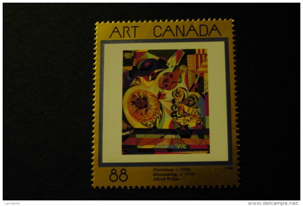 Canada 1545 Painting FLORAISON BY ALFRED PELLAN  MNH 1995 A04s - 1952-.... Règne D'Elizabeth II