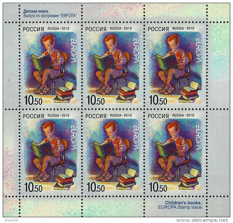 Russia - 2010 - Europa CEPT - Children Books - Mint Miniature Stamp Sheet - 1992-.... Federation
