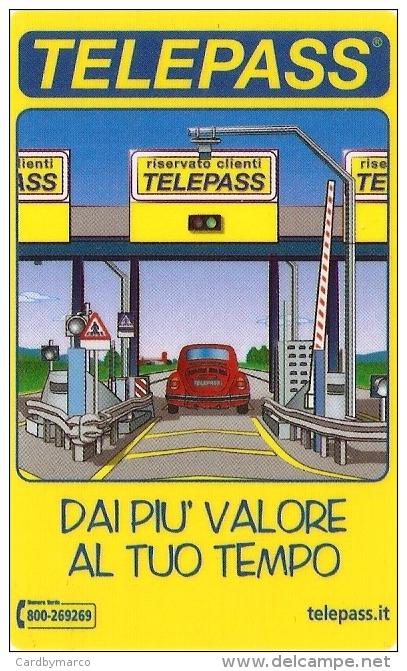 *ITALIA: VIACARD - TELEPASS (€. 25)* - Usata - Non Classificati