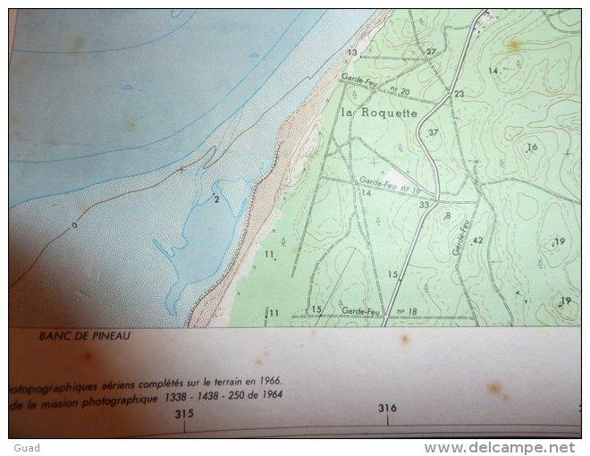 LA TESTE - ARCACHON - BANC D'ARGUIN  CAP FERRET LE PYLA  EMPLACEMENT DES BLOCKHAUS - Cartes Géographiques