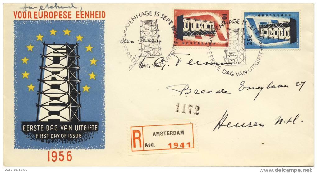 E27 Met Aantekenstrookje Amsterdam - Met Adres / Open Klep (CW = € 50,-) - FDC