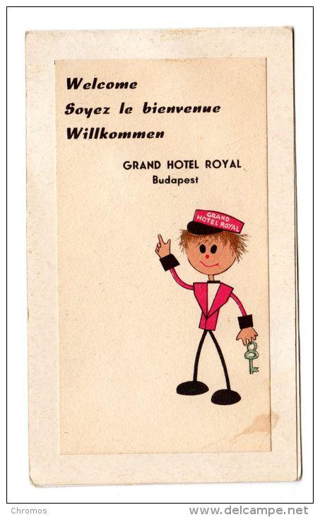 """Etiquette Label Hotel """"grand Hotel Royal"""" Budapest, Hongrie - Etiquetas De Hotel"""