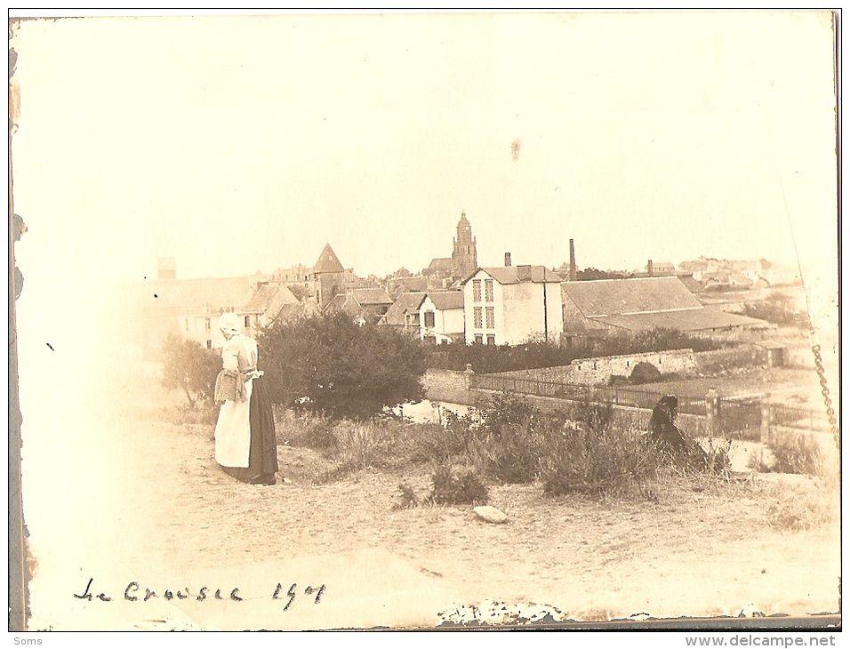 Photographie Ancienne Du Croisic (44), Vue Prise Du Mont-Esprit, Bretonne, Photo De 1901 - Luoghi