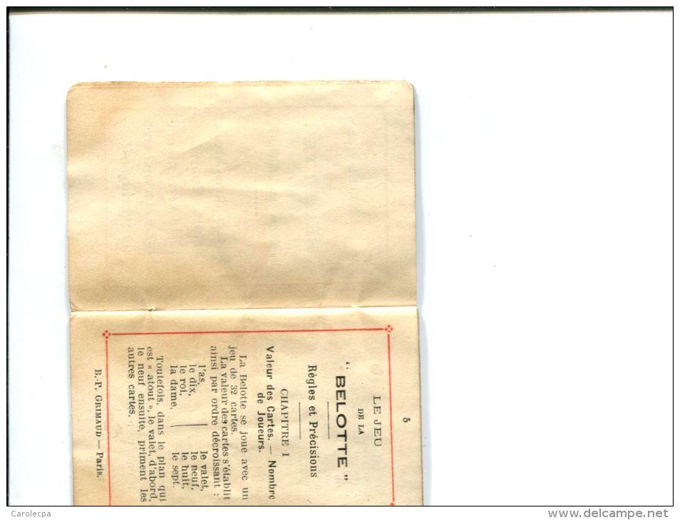 CP - PETIT FASCICULE   BP.GRIMAUD 54 RUE DE LANCRY CARTES A JOUER - Autres