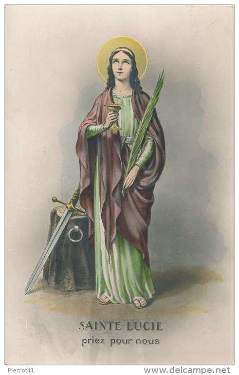 religion jolie carte fantaisie femme sainte lucie