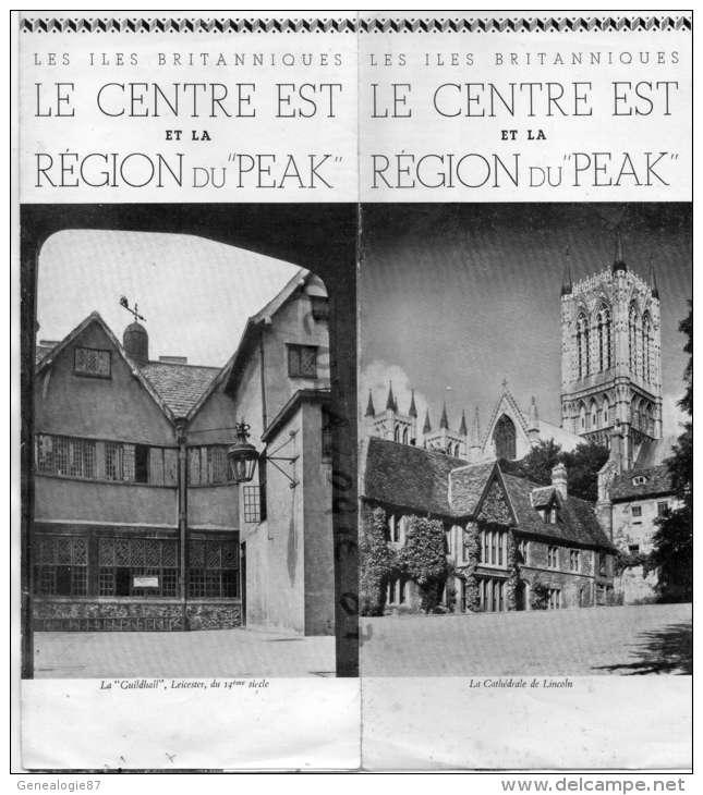 ANGLETERRE - LE CENTRE EST ET LA REGION DU PEAK - LEICESTER- CATHEDRALE LINCOLN-CHETERFIELD-1938 - Royaume-Uni
