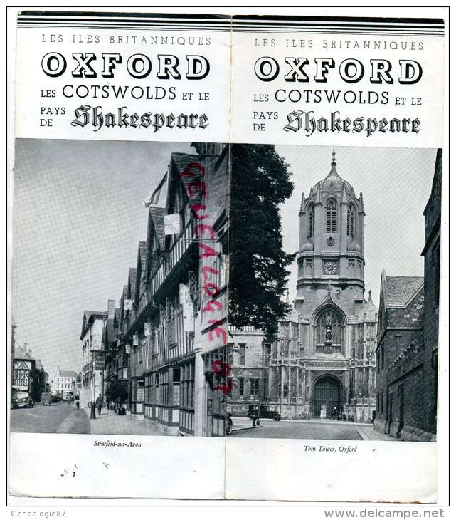 ANGLETERRE - OSFORD - LES COTSWOLDS ET LE PAYS DE SHAKESPEARE-STRATFORD SUR AVON-1938 - Royaume-Uni