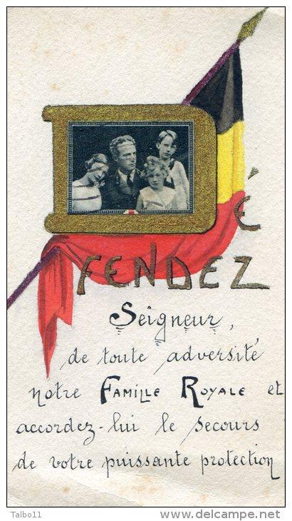 Defendez Seigneur Notre Famille Royale- Belgique - Drapeau Belge- Photo Famille Royale - Vieux Papiers