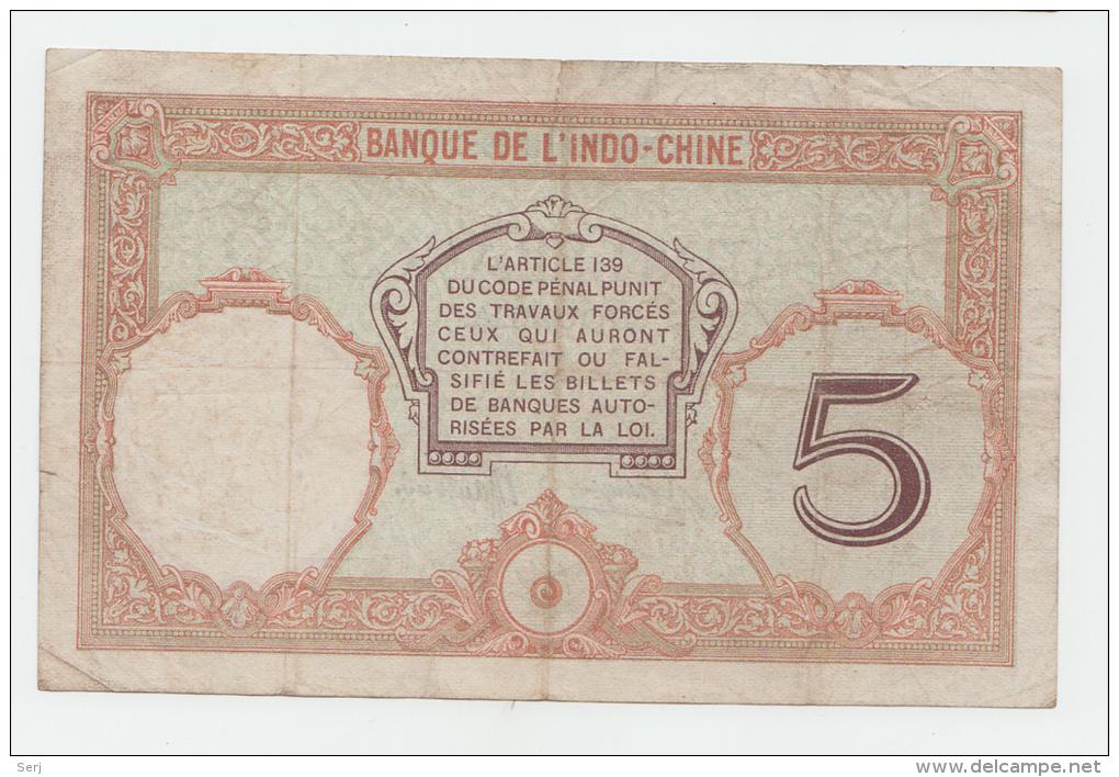 "New Caledonia Noumea 5 Francs 1926 ""F+"" P 36b 36 B - Nouméa (New Caledonia 1873-1985)"