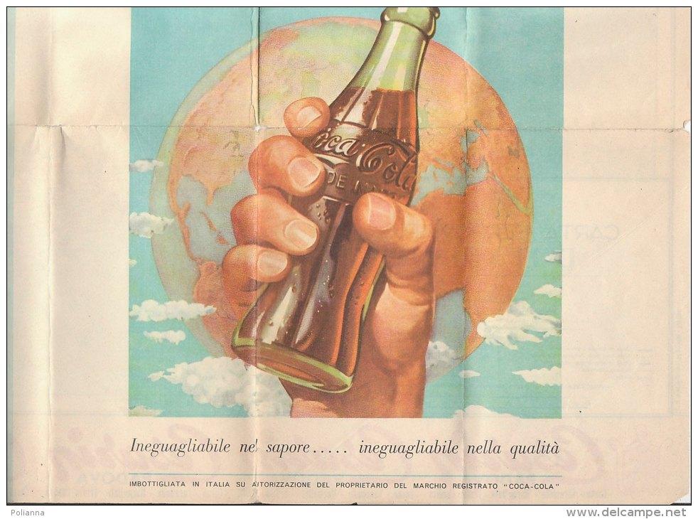 B0971 - CARTA FERROVIARIA D'ITALIA Ed.F.lli Pozzo PUBBLICITA' COCA COLA - SALONE AUTOMOBILE TORINO - Other