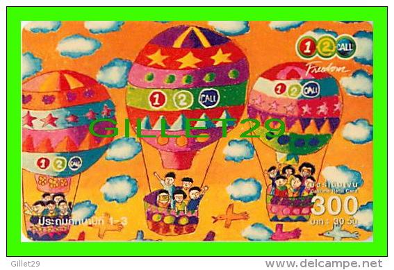 TÉLÉCARTES THAILANDE - MONTGOLFIÈRES - HOT AIR BALOON - 300 BAHT - DEC/2005 - PHONECARDS THAILAND - - Télécartes
