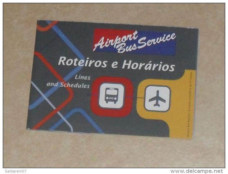 Dépliant Airport Bus Service Parcours Et Horaires SAO PAULO Brésil - Monde