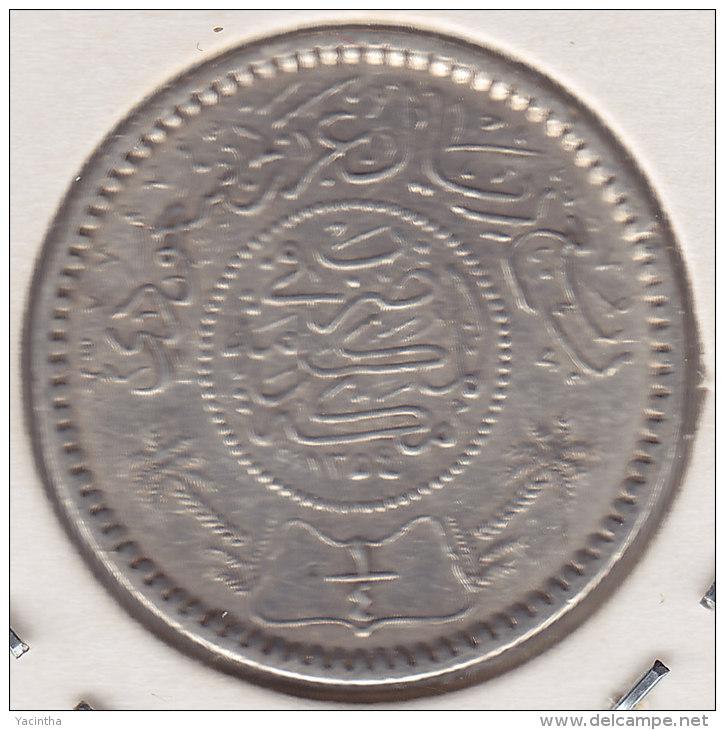 @Y@    Saoedi Arabie   1/4  Riyal 1935  / 1354   Zilver / Argent  (2455) - Arabie Saoudite