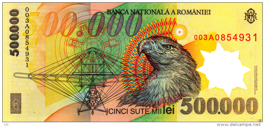 ROMANIA  500.000 Lei  2000 ***UNC*** P-115 POLYMER PLASTIC - Roumanie