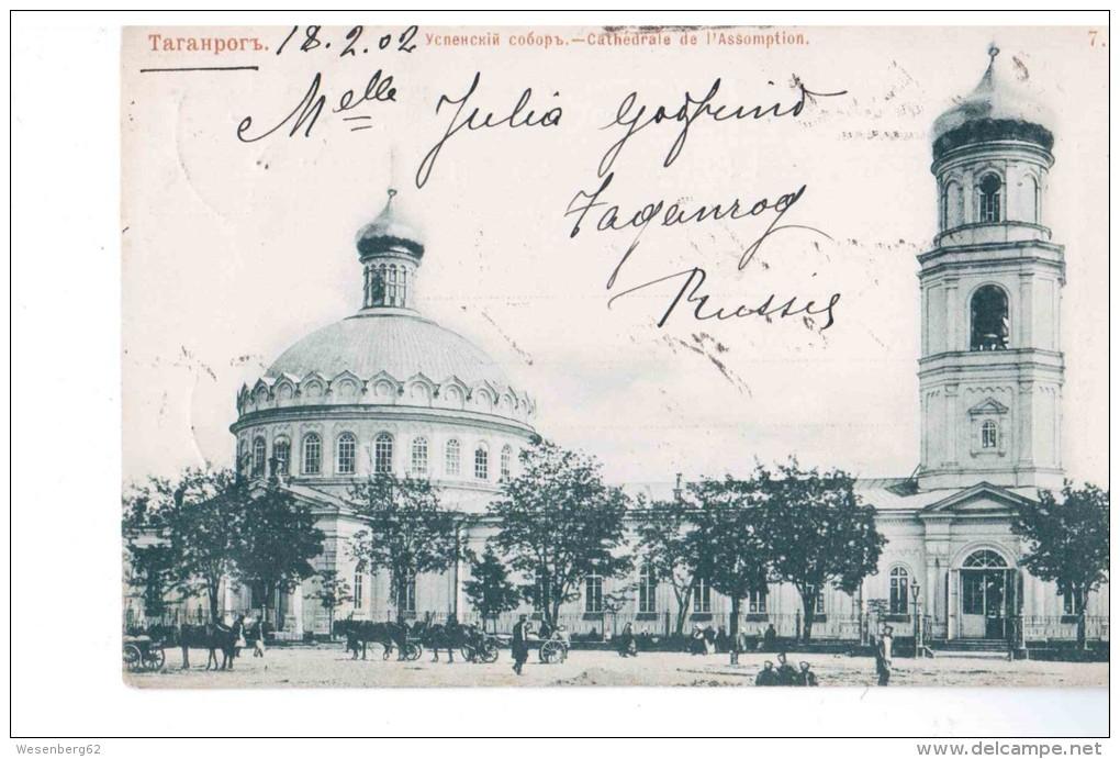Taganrog Uspenski Sobor Cathedral 1902 NICE OLD POSTCARD 2 Scans - Rusland