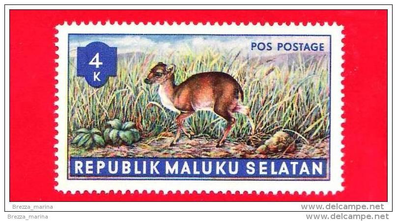 Etichette Di Fantasia -  1955 - Republik Maluku Selatan - Animali Della Foresta - Pos Postage - 4 - Altre Collezioni