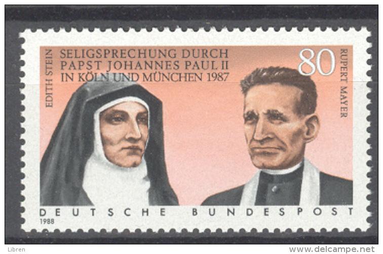 BL3-146 GERMANY 1988 MI 1352 SELIGSPRECHUNG, ZALIGVERKLARING EDIT STEIN. MNH, POSTFRIS, NEUF**. - Christentum