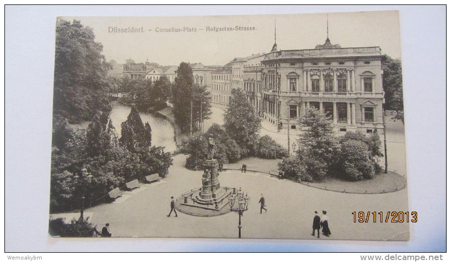 AK Düsseldorf, Cornelius-Platz Mit Hofgarten-Strasse Vom 26.3.1911 - Düsseldorf
