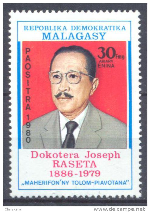 Madagascar YT N°639 Docteur Joseph Raseta Neuf/charnière * - Madagascar (1960-...)