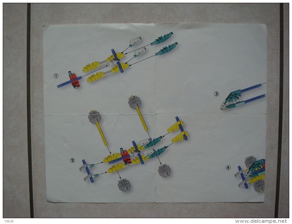 Brochure (1994) Mode D'emploi K'NEX 10505/20505 (23,5 Cm Sur 29,5 Cm Déplié) - K'nex
