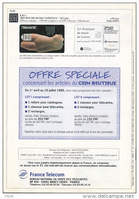 """TELECARTE ACTUALITES, """"Invitation Aux Loisirs"""", Edition De Mai 1995, 12 Pages (14,8 Cm Sur 21 Cm) - Telefonkarten"""