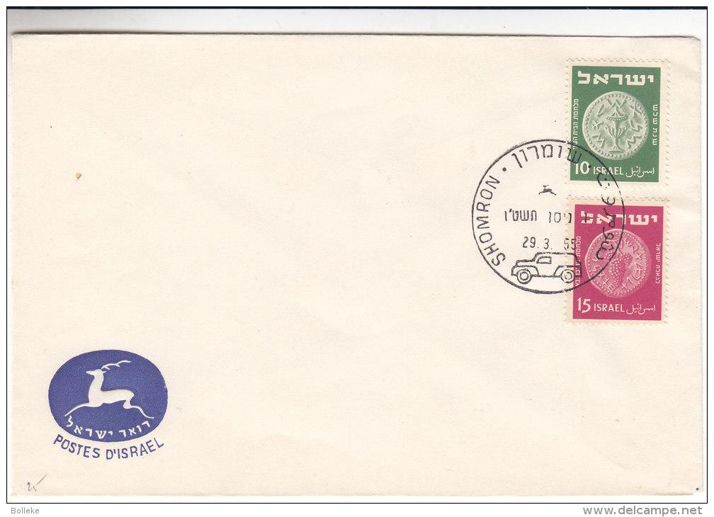 Israël - Document De 1955 - Poste Automobile - Obllitération Shomron - Israel