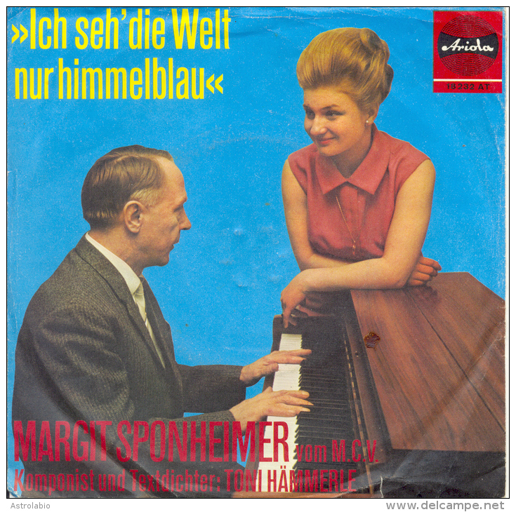 """ Margit Sponheimer, Komponist Toni Hämmerle "" Disque Vinyle 45 Tours - Vinyl-Schallplatten"