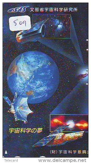 Télécarte Japon ESPACE * Phonecard JAPAN (509) SPACE * PLANETE * COSMOS * GLOBE * TK * WELTRAUM * SPECTRUM * UNIVERSUM - Espacio