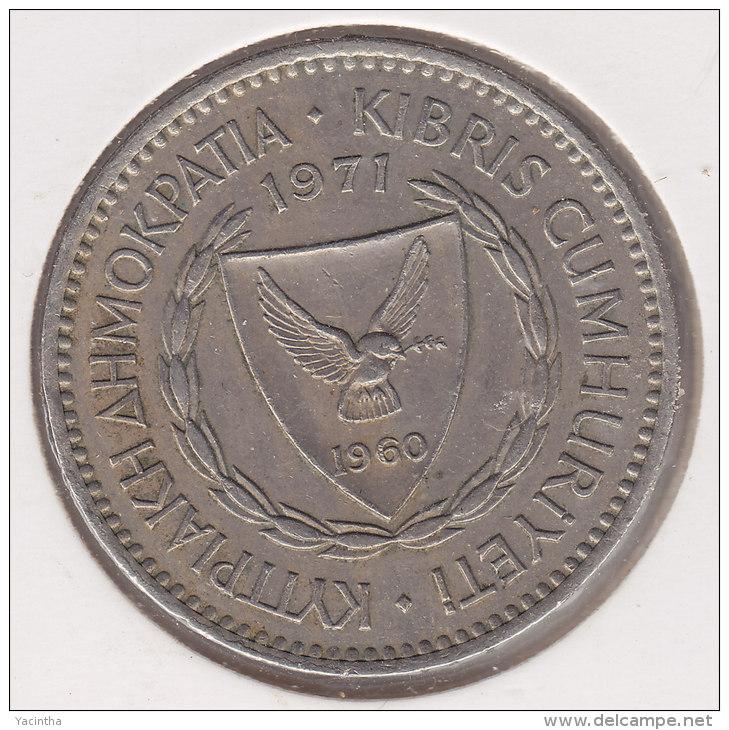 @Y@   Cyprus  100 Mils 1971   (2470) - Chypre
