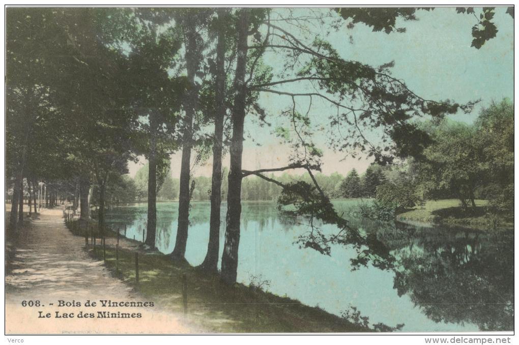 Carte Postale Ancienne De : PARIS-Bois De Vincennes - Arrondissement: 12