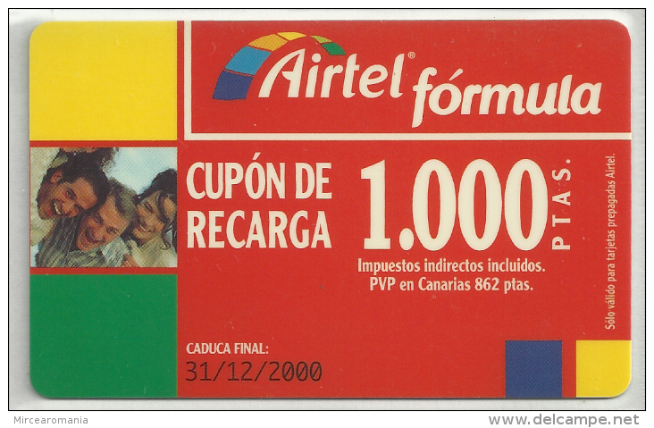 = SPAIN - AIRTEL  - 1  - MY COLLECTION = - Airtel