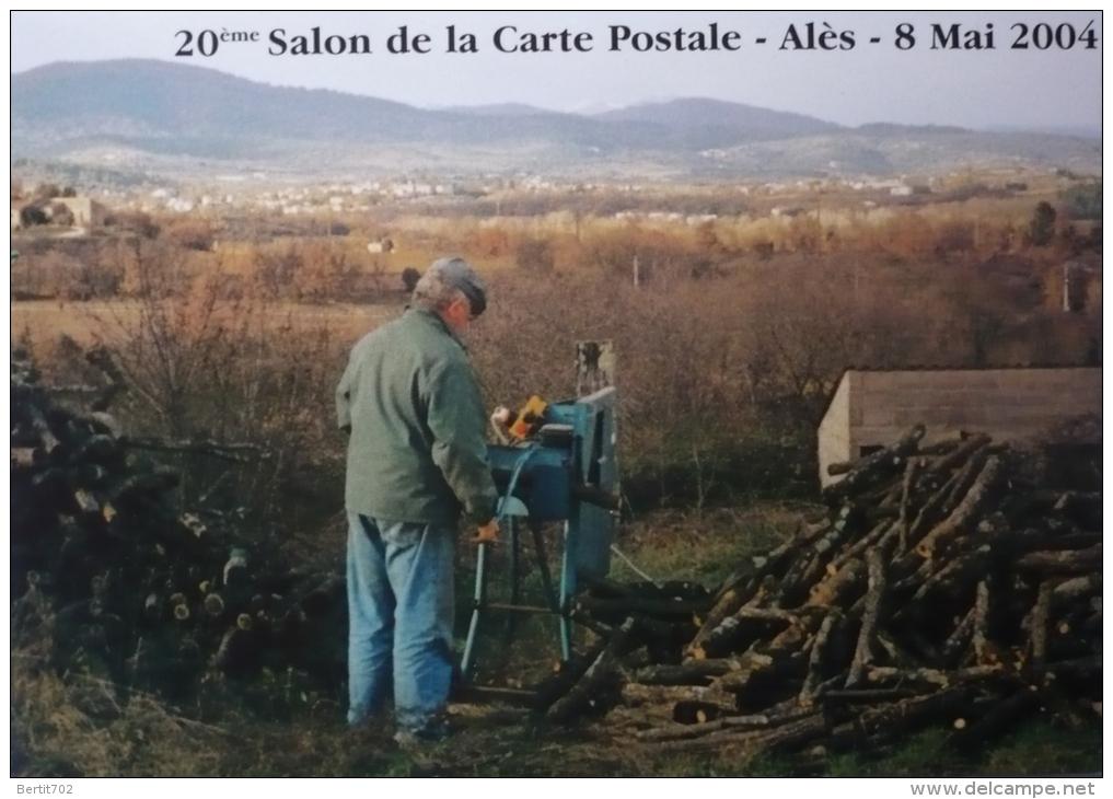 ALES -  20 ème Salon De La  Carte  Postales 2004 -SCIEUR DE BOIS - Collector Fairs & Bourses