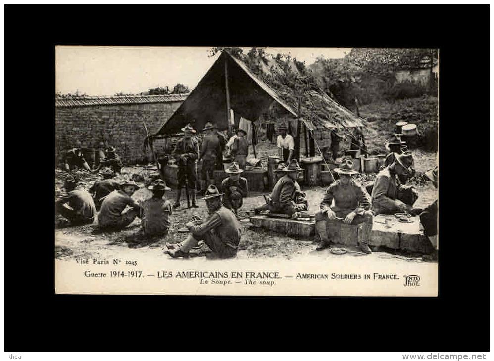 MILITARIA - Guerre 14-18 - Armées Etrangères - Armée Américaine - Américains En France - Moto - Side-car - Guerre 1914-18