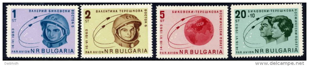 BULGARIA 1963 Vostok 5 And 6 Team Flights Set  MNH / **.  Michel 1394-97 - Unused Stamps