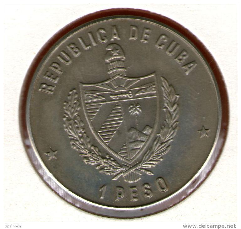 CUBA / KUBA *** 1 Peso 1989 ***  Cu-Ni - KM# 260 - 30mm - 160th Anniversary Of First Railroad In England - Cuba