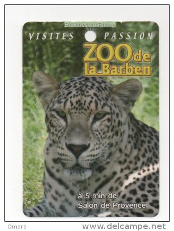 Alt418 Biglietto Pubblicitario, Promotional Card, Zoo Barben, Animali, Animals Salon Provence, Ghepardo Cheetah Guépard - Werbung