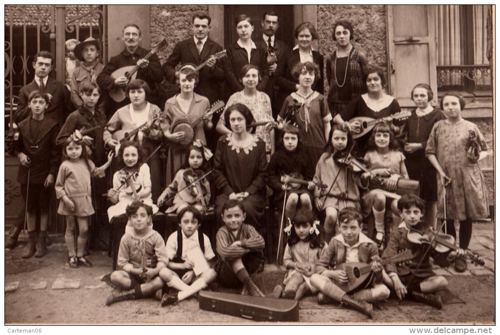 Photo - Académie De Musique (Orchestre, Fanfare, Violon, Banjo, Mandoline -Photo J. Dauw à Meudon Et Issy Les Moulineaux - Personnes Anonymes