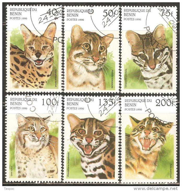 Benin 1996 Mi# 806-811 Used - Wild Cats - Big Cats (cats Of Prey)