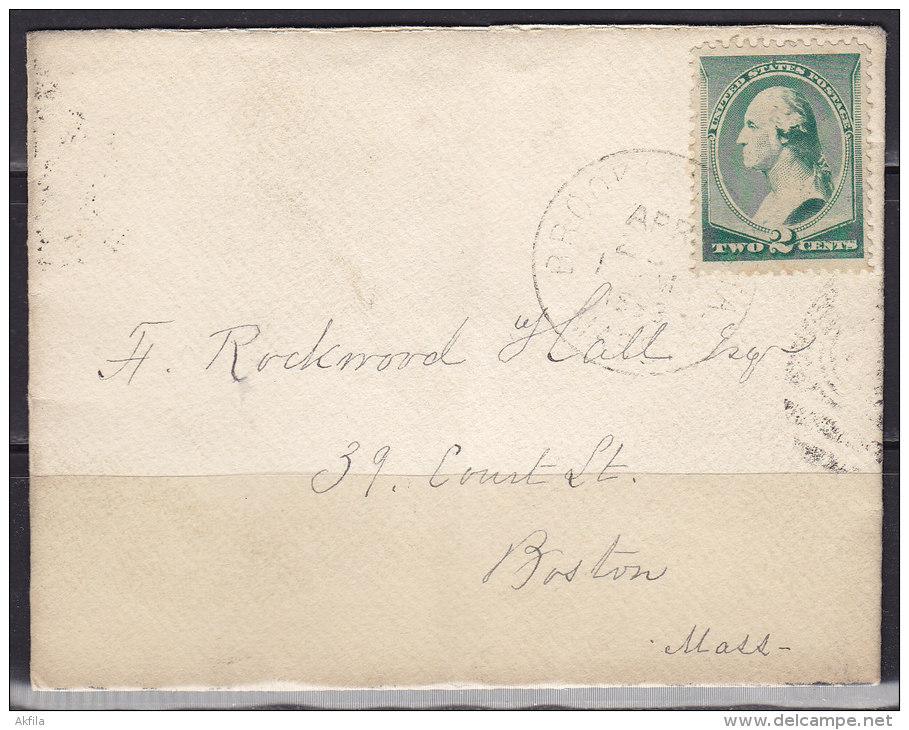 2630. USA, 1888, Letter - 1847-99 Emissions Générales
