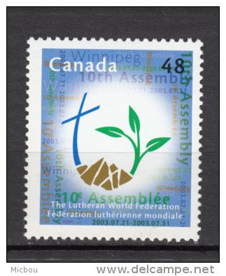 Canada, 2003, #1992, église Luthérienne, Religion, Croix, Cross, Lutheran Church - Ongebruikt